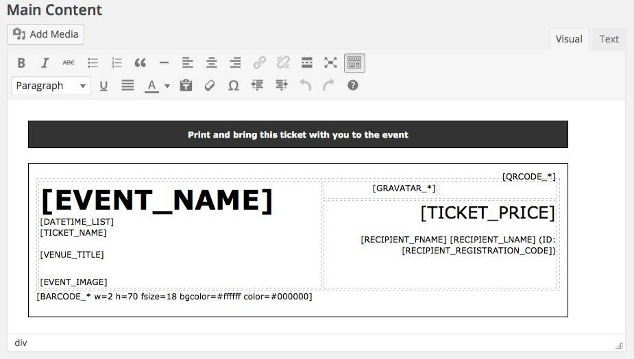 Printable Event Ticket Templates