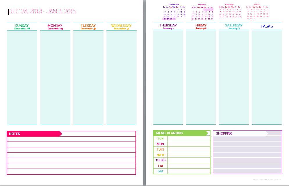 Printable Planner Sticker Templates