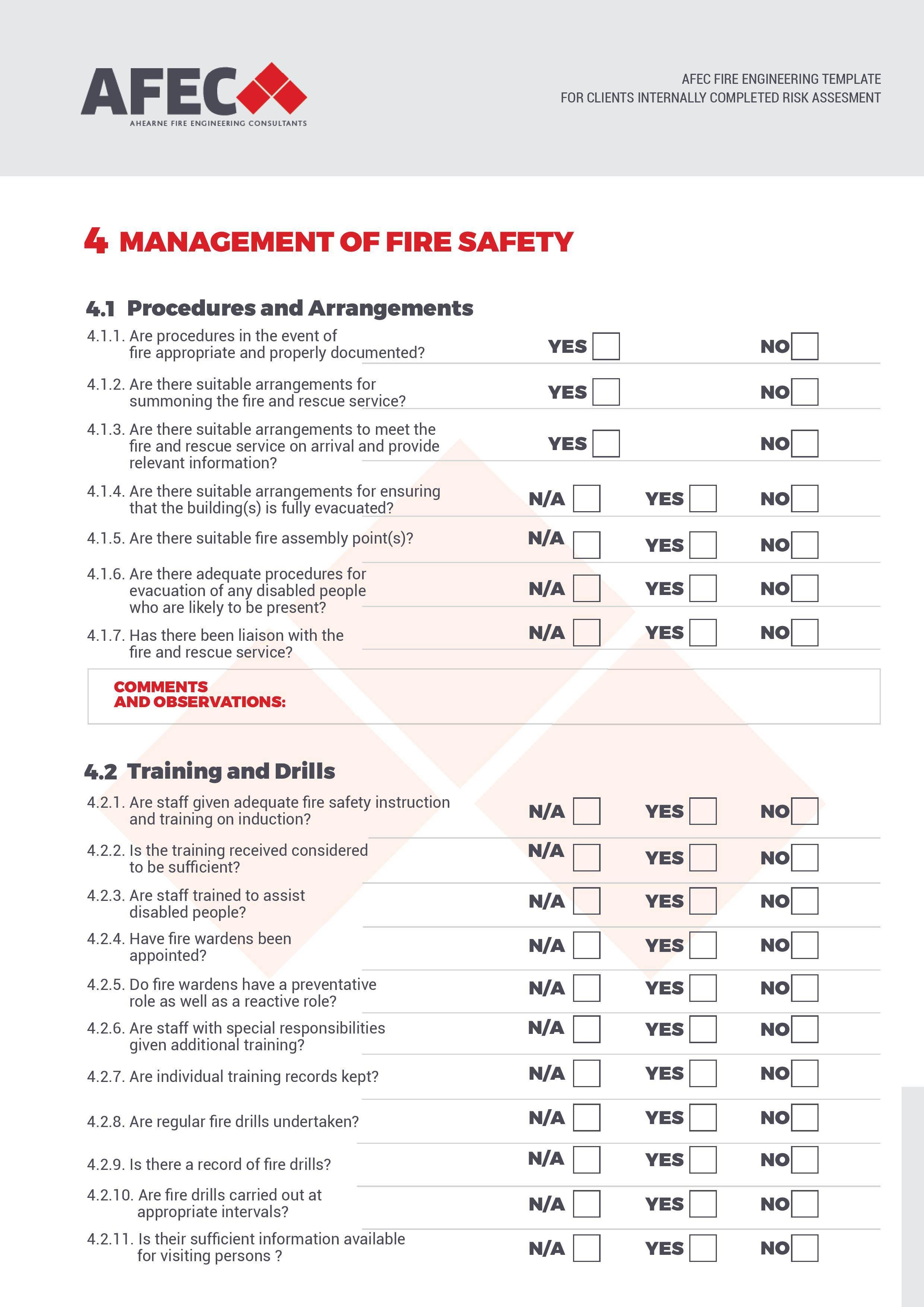 Process Hazard Analysis Checklist Template