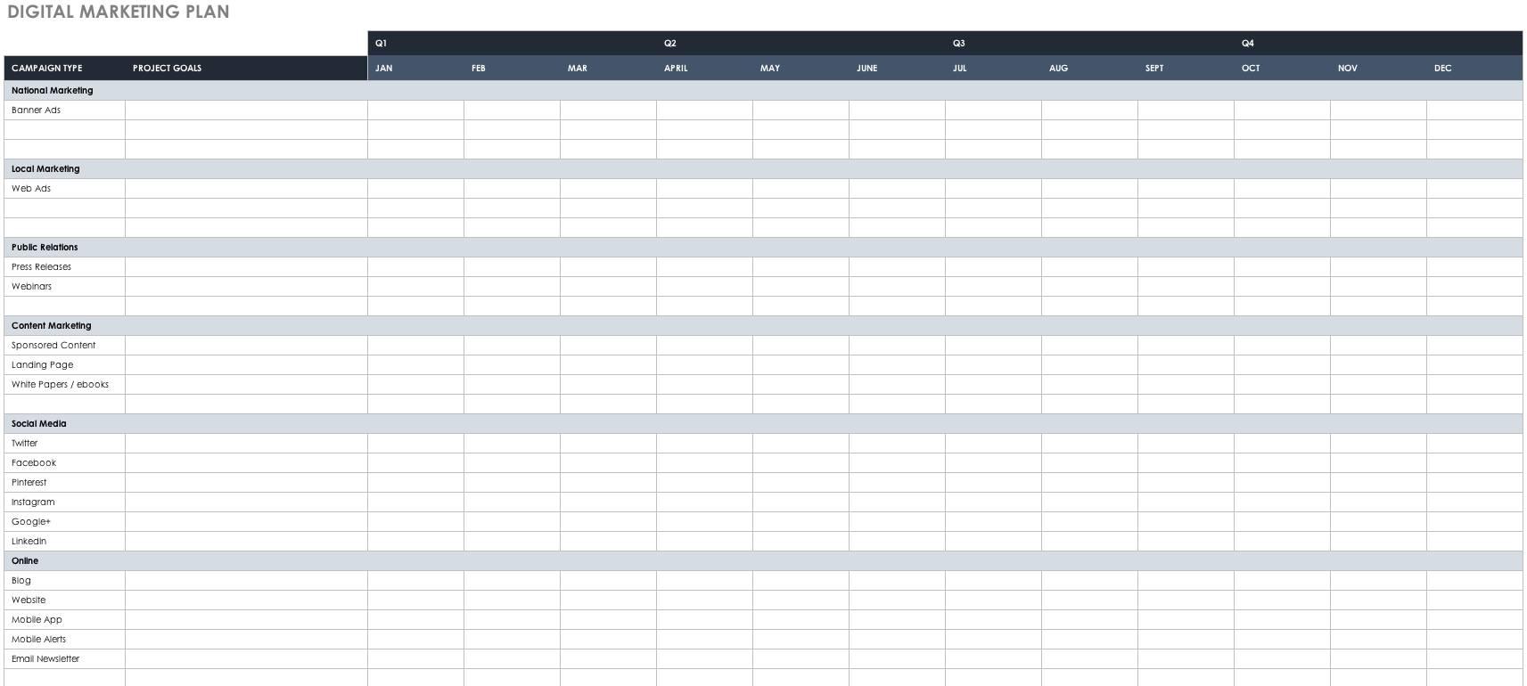 Product Launch Gantt Chart Template