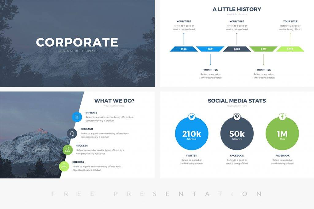 Professional Ppt Presentation Templates Free
