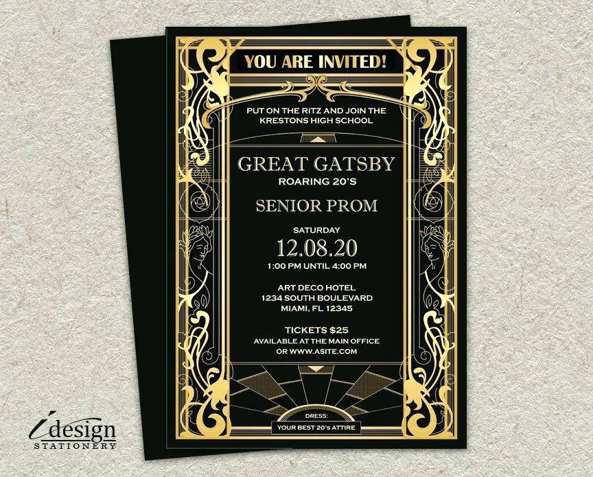 Prom Party Invitation Templates