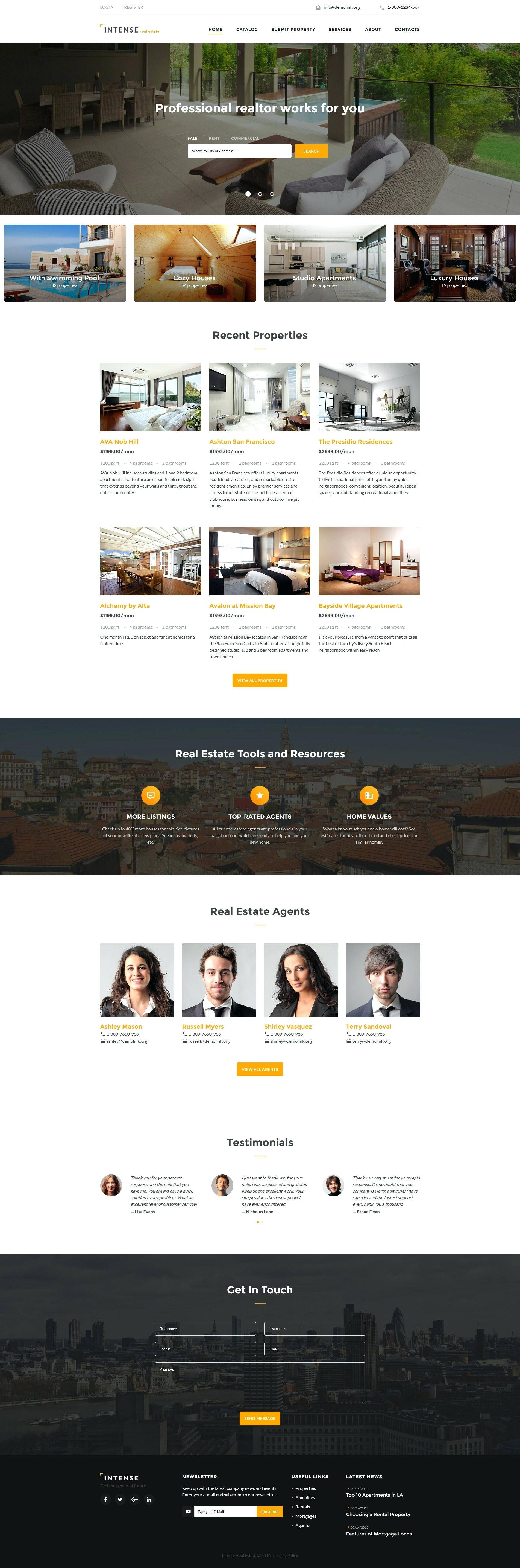 Property Broker Website Templates