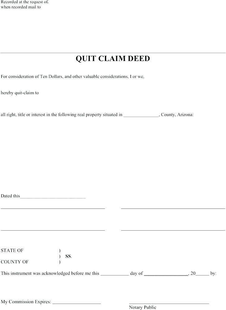 Arizona Deed Of Trust Template - Templates #NDczNzg ...