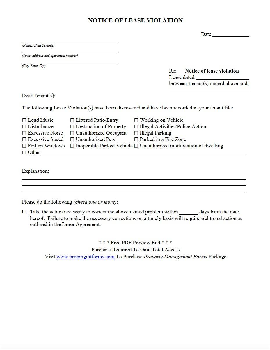 Property Management Lease Template