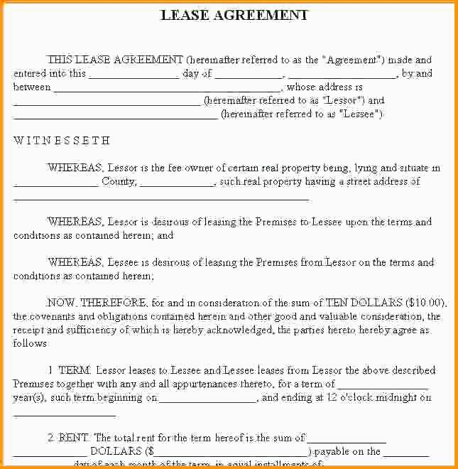 Property Rental Contract Sample
