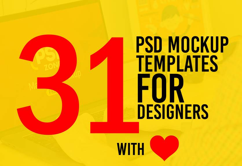 Psd Mockup Templates For Designers