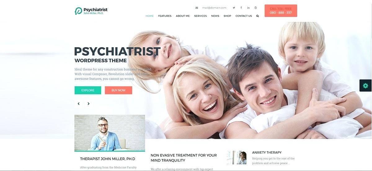 Psychiatrist Website Template Wordpress