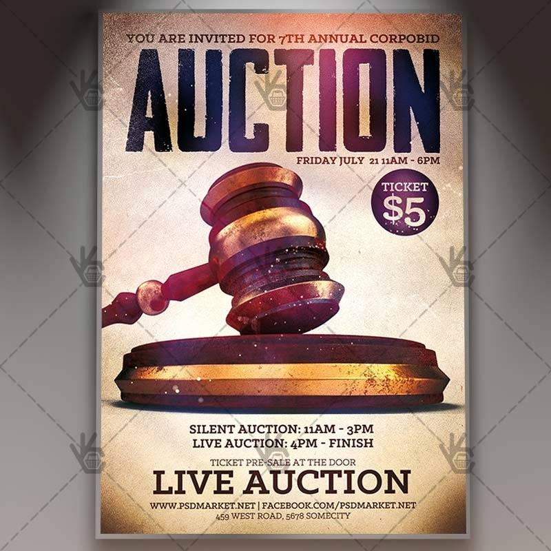 Quarter Auction Flyer Template
