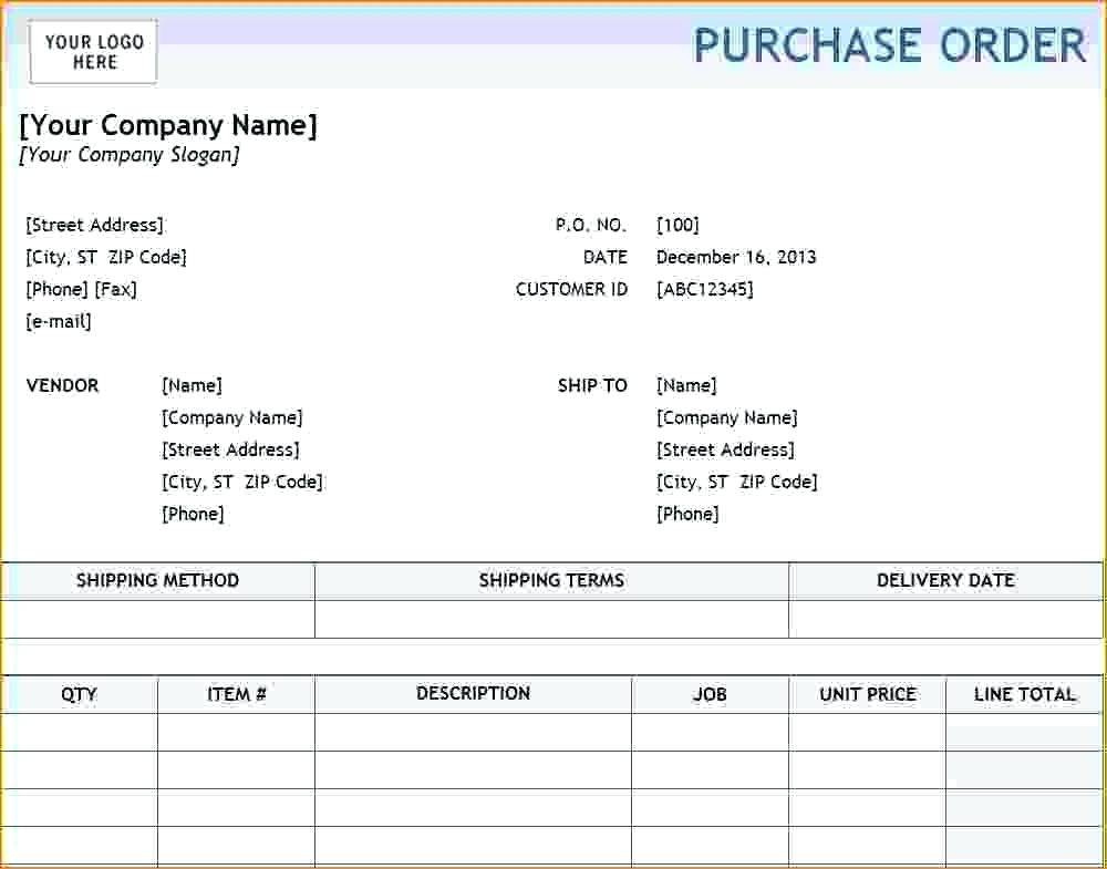 Quickbooks Purchase Order Template Download