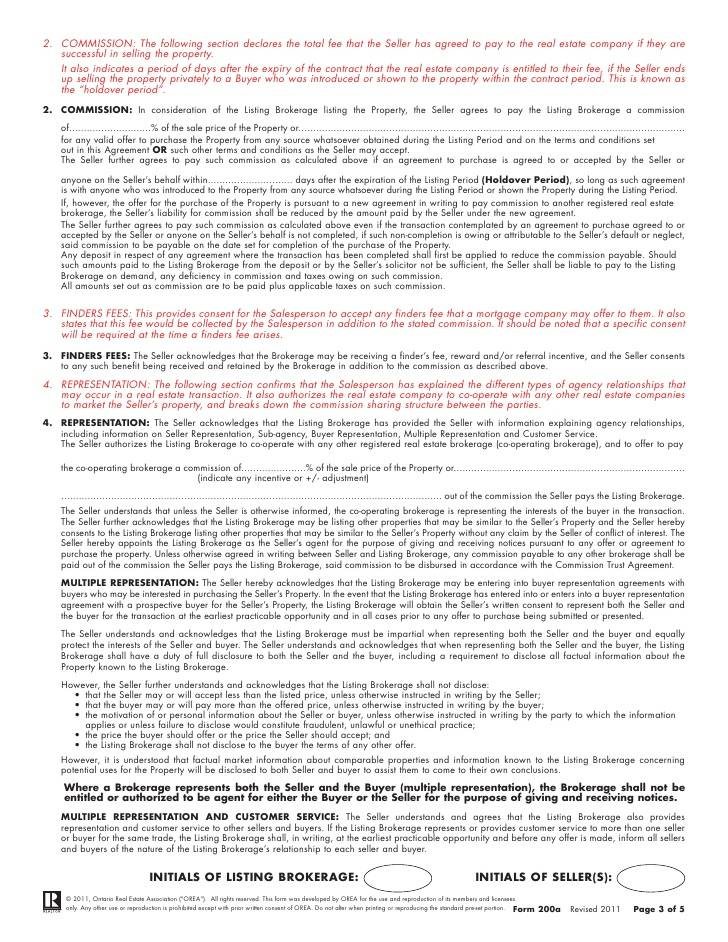 Real Estate Broker Commission Agreement Form Ny