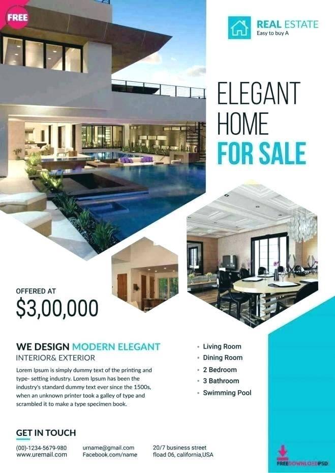 Real Estate Flyer Template Illustrator
