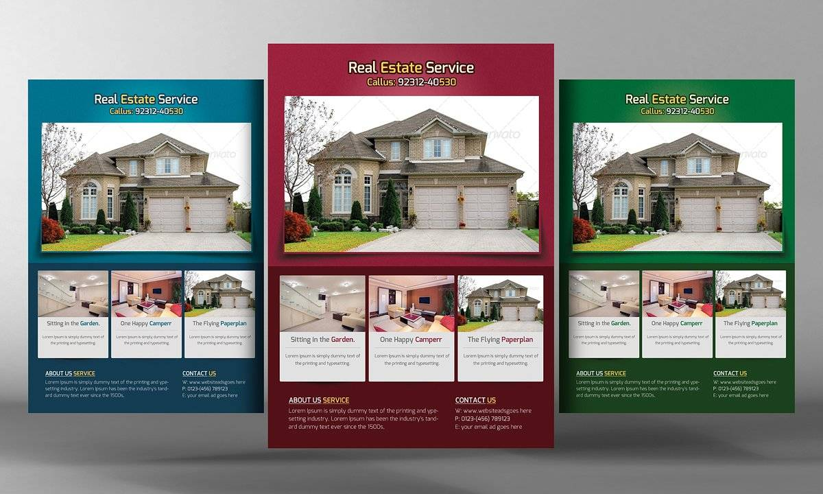 Real Estate Flyers Templates