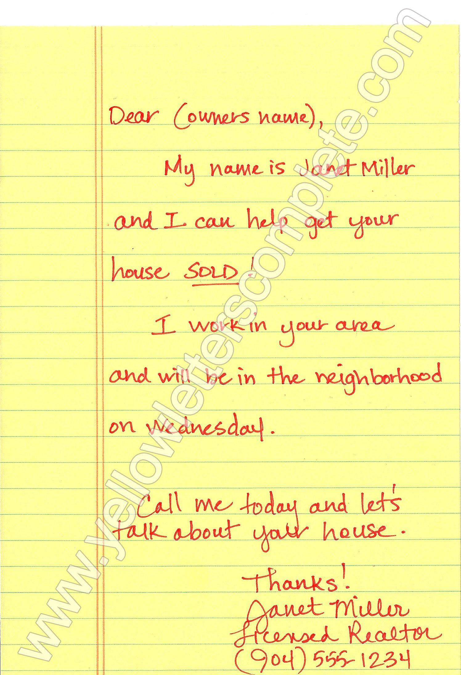 Real Estate Marketing Letter Templates