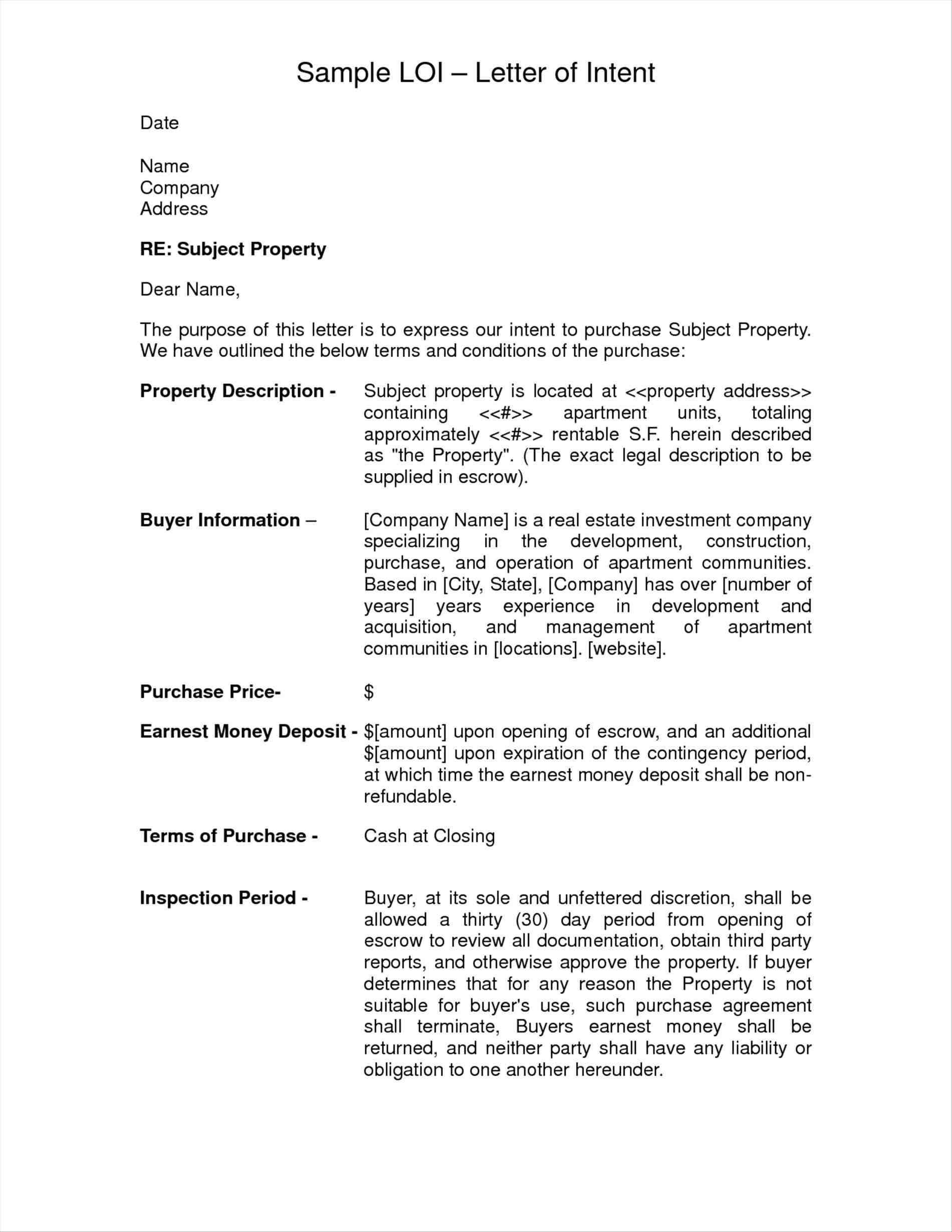 Real Estate Proposal Letter Template