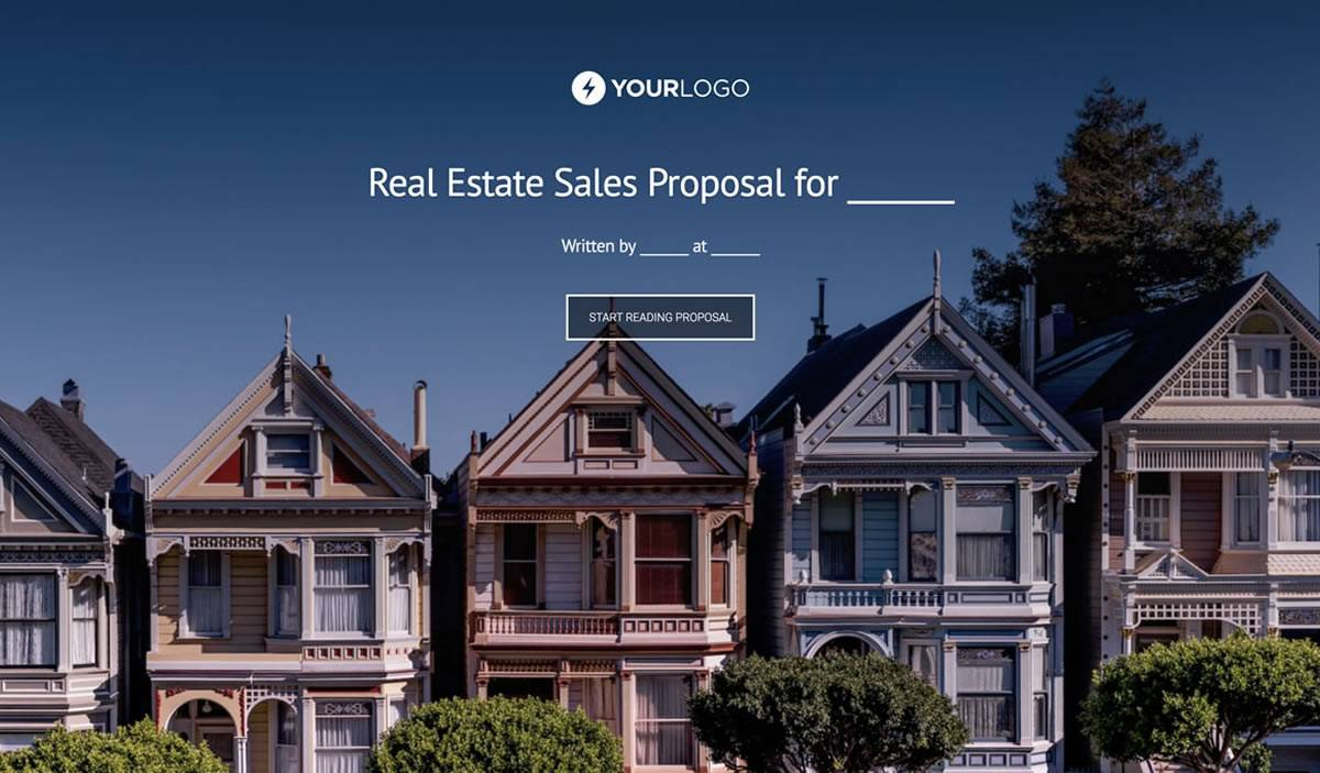 Real Estate Proposal Template Free