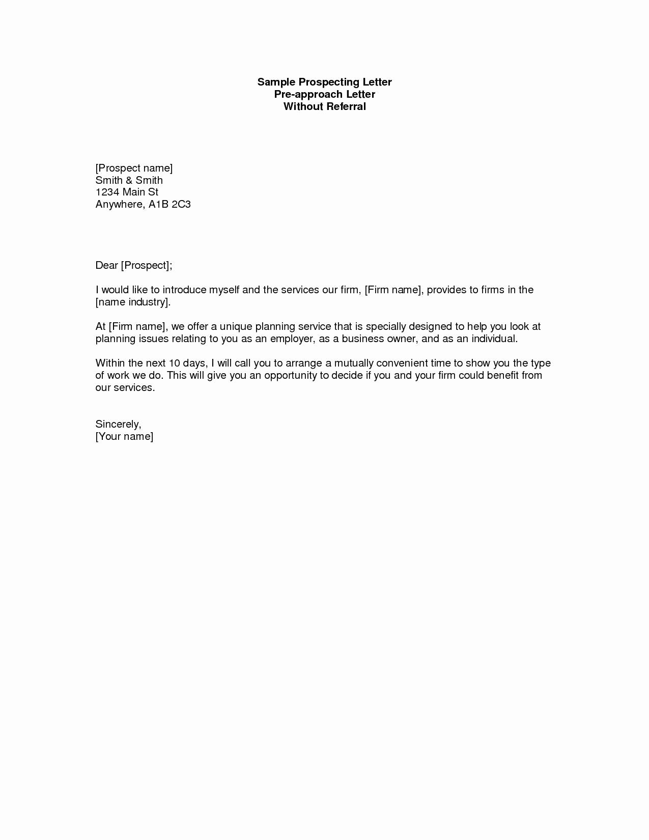 Real Estate Prospecting Letter Templates