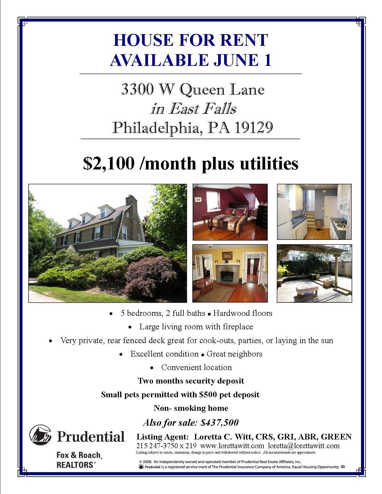 Real Estate Rental Flyer Template