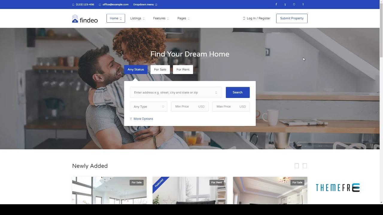 Real Estate Template WordPress Free