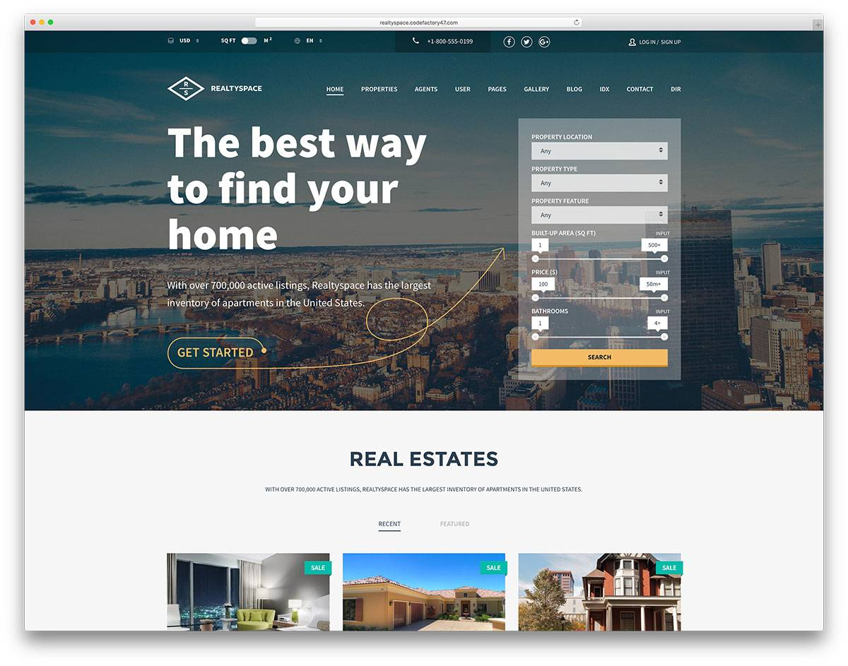 Real Estate Websites Templates