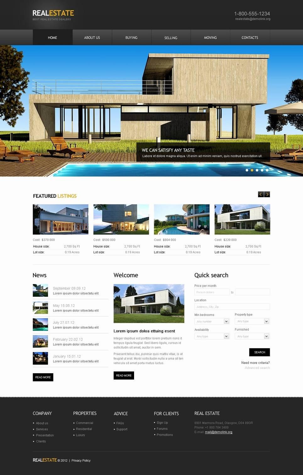 Realtor Websites Templates
