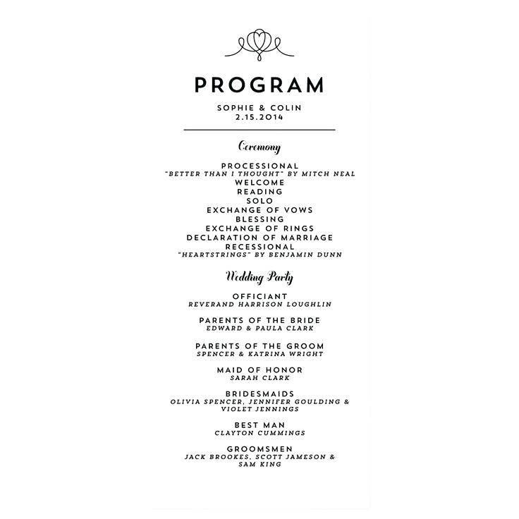 Reception Program Samples