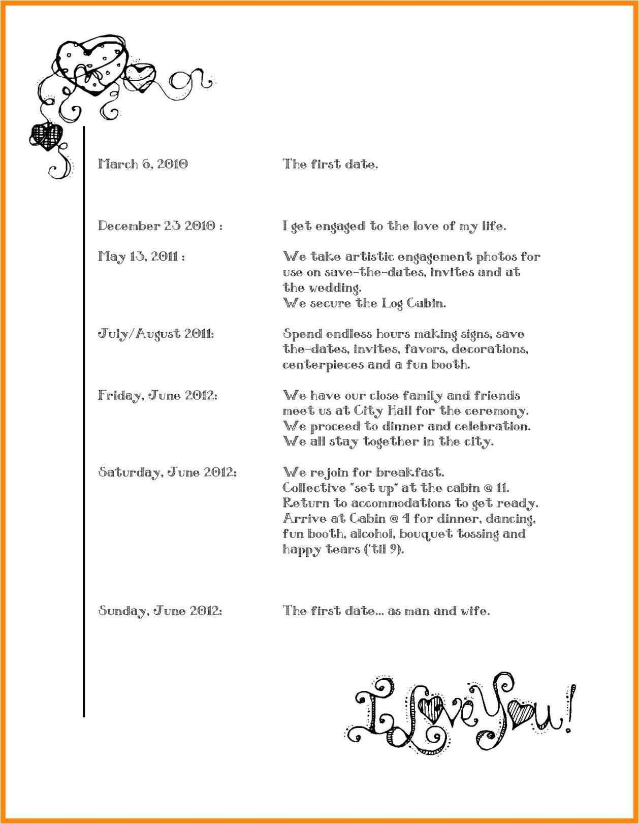 Reception Program Template