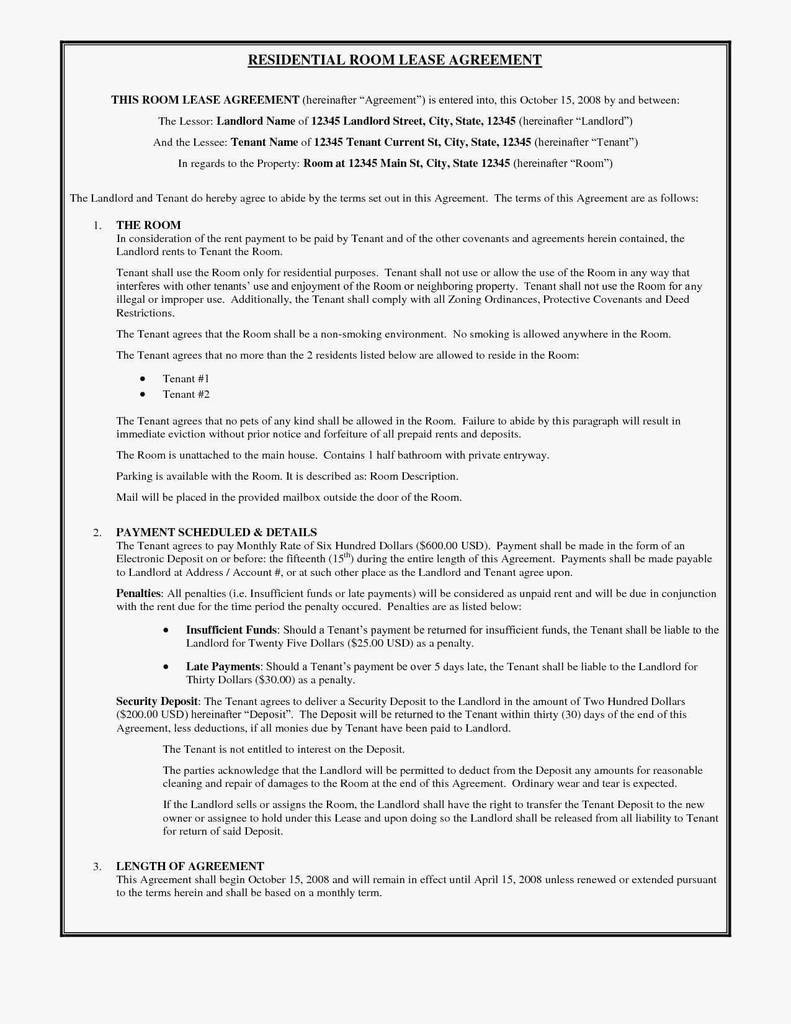 Rental Contract Florida Form