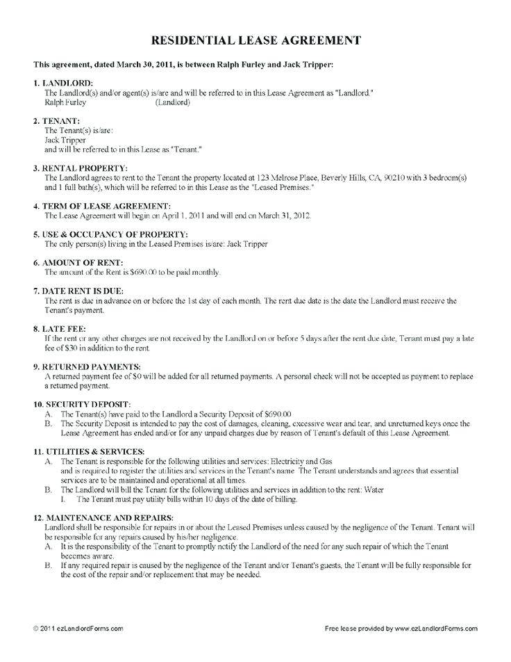 Rental Lease Template Qld