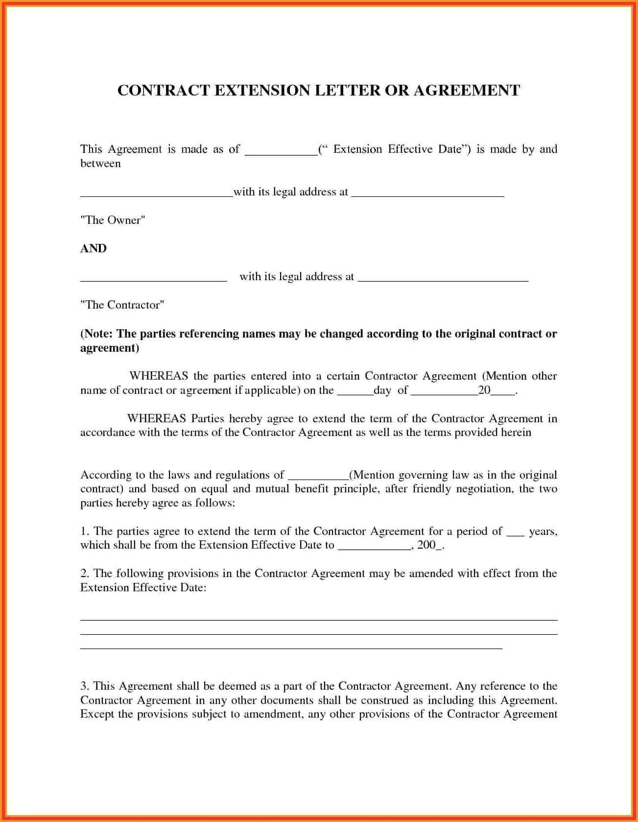 Rental Payment Agreement Letter