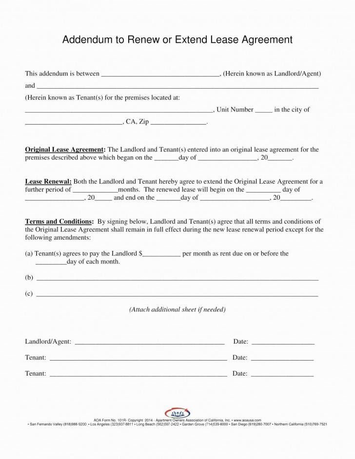 Residential Lease Agreement Extension Template