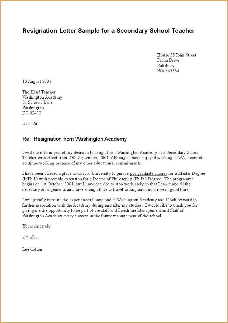 Resignation Template Letter Nz