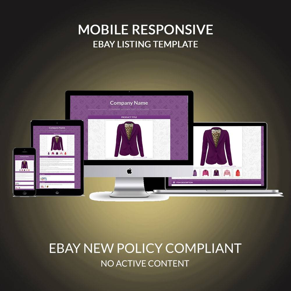 Responsive Ebay Listing Template Free