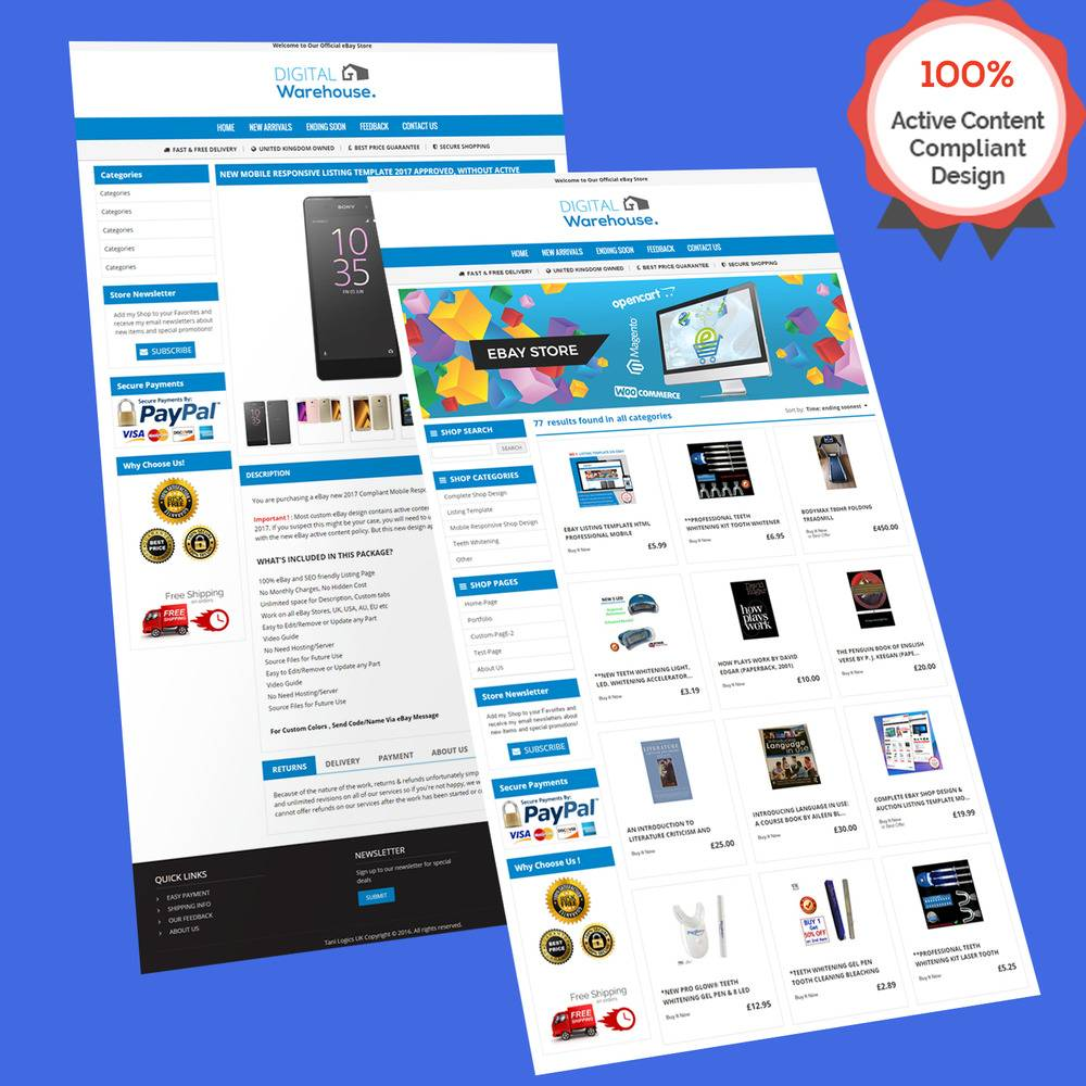 Responsive Ebay Store Template