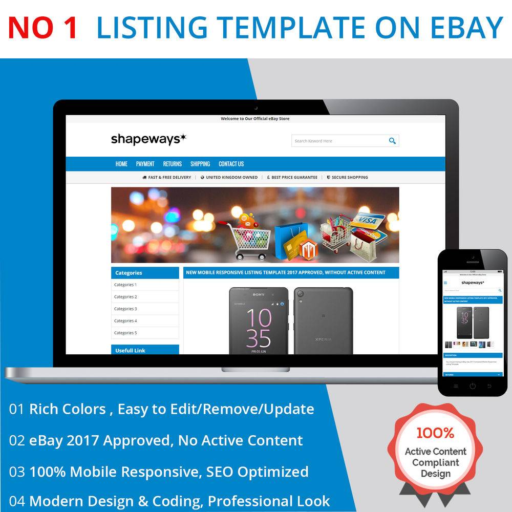 Responsive Ebay Template Design