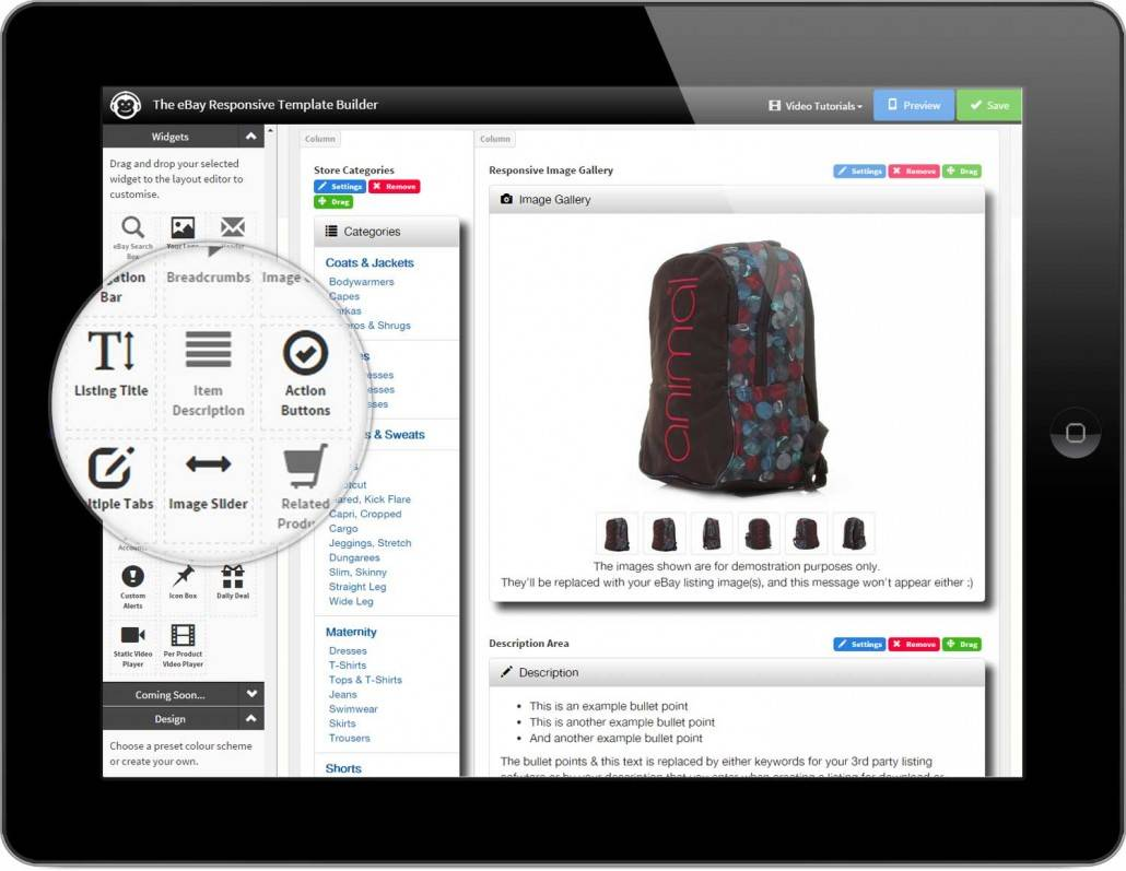Responsive Ebay Template Free