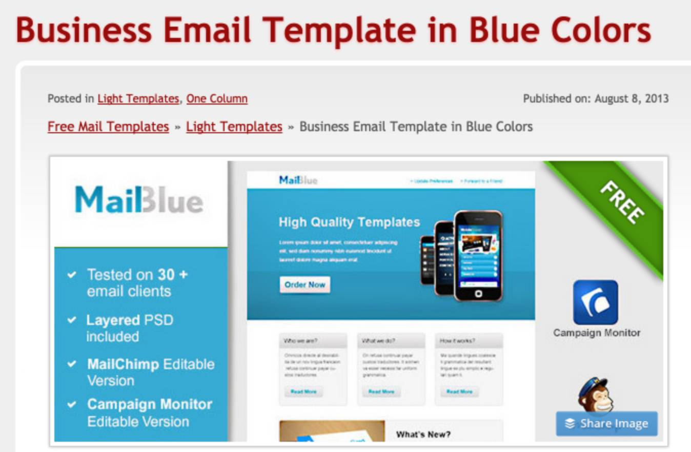 Responsive Email Template Outlook