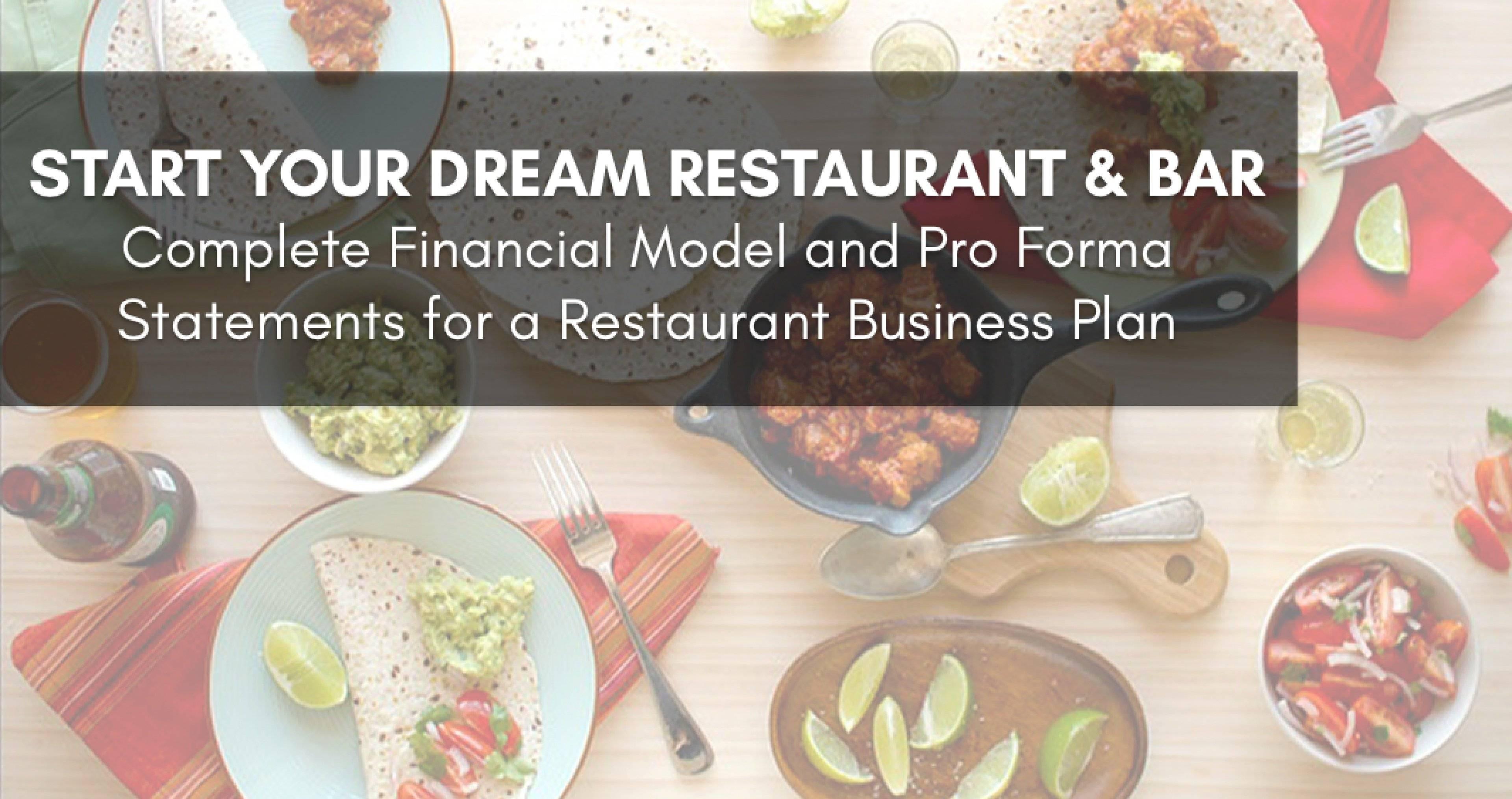 Restaurant Pro Forma Template Excel
