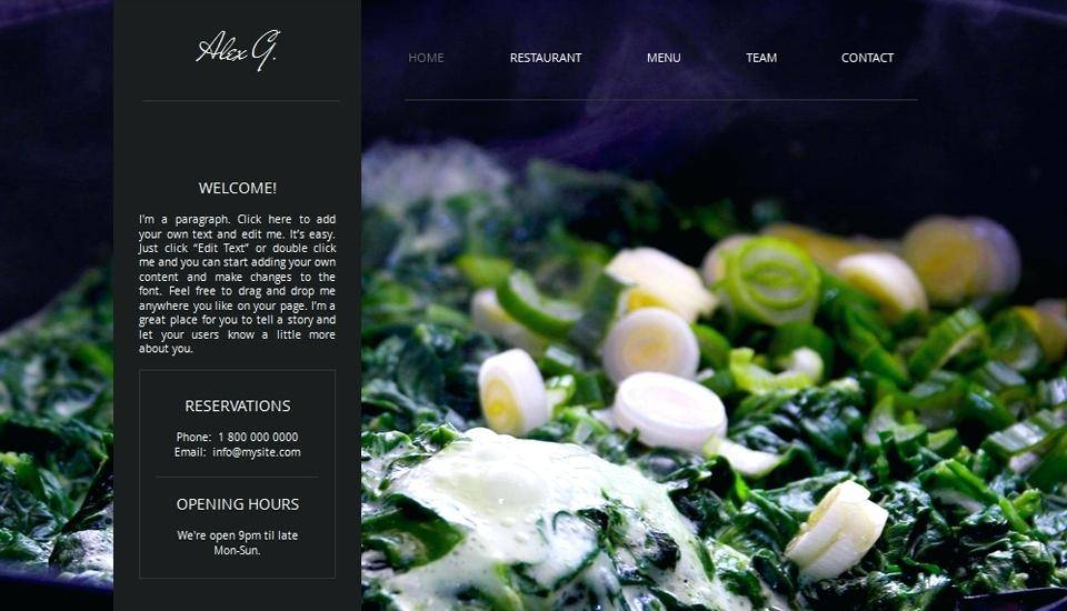Restaurant Website Templates Free Download Html With Css