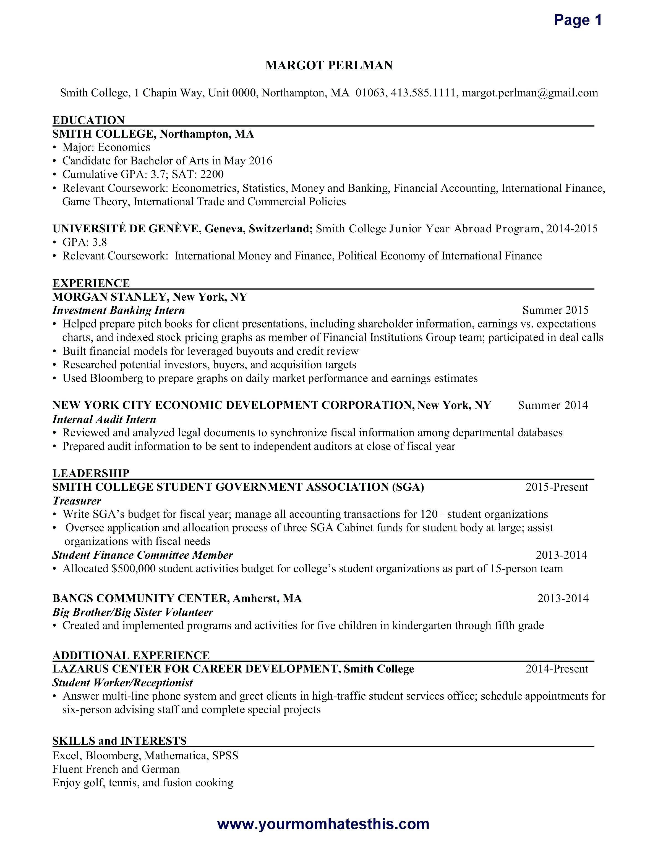Resume Template For Salesforce Developer