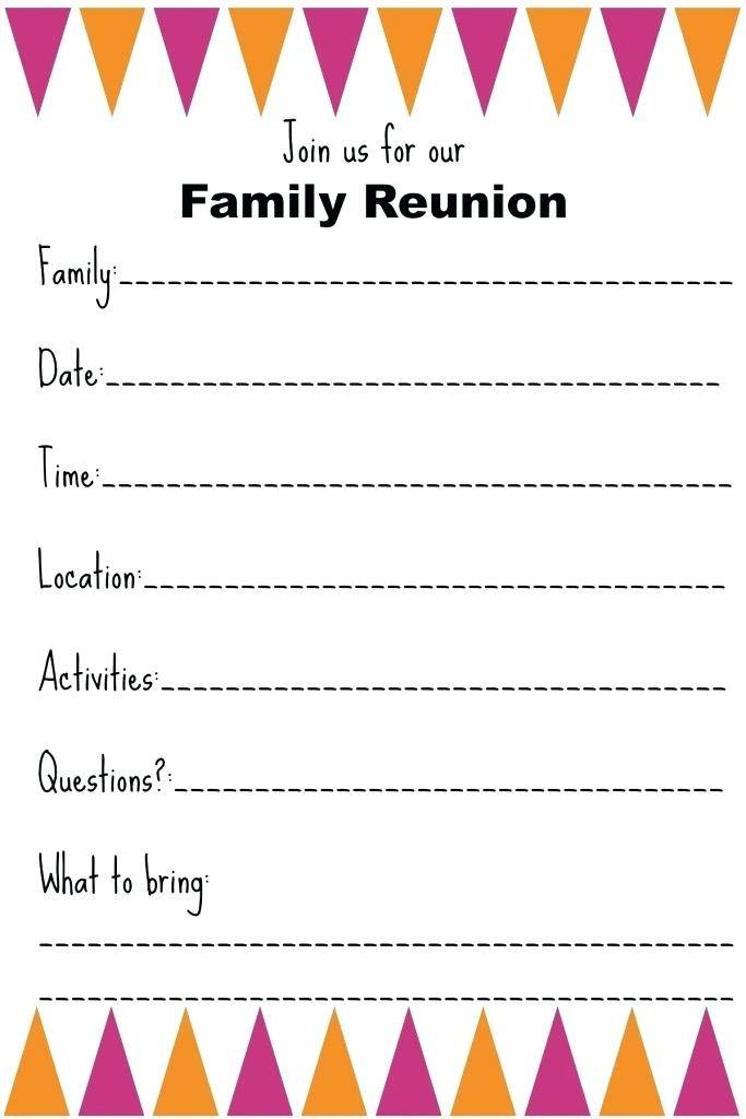 Reunion Invitation Samples