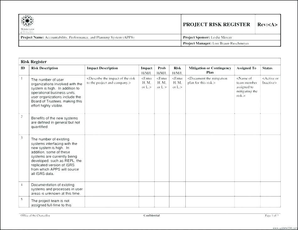 Risk Management Plan Template Excel