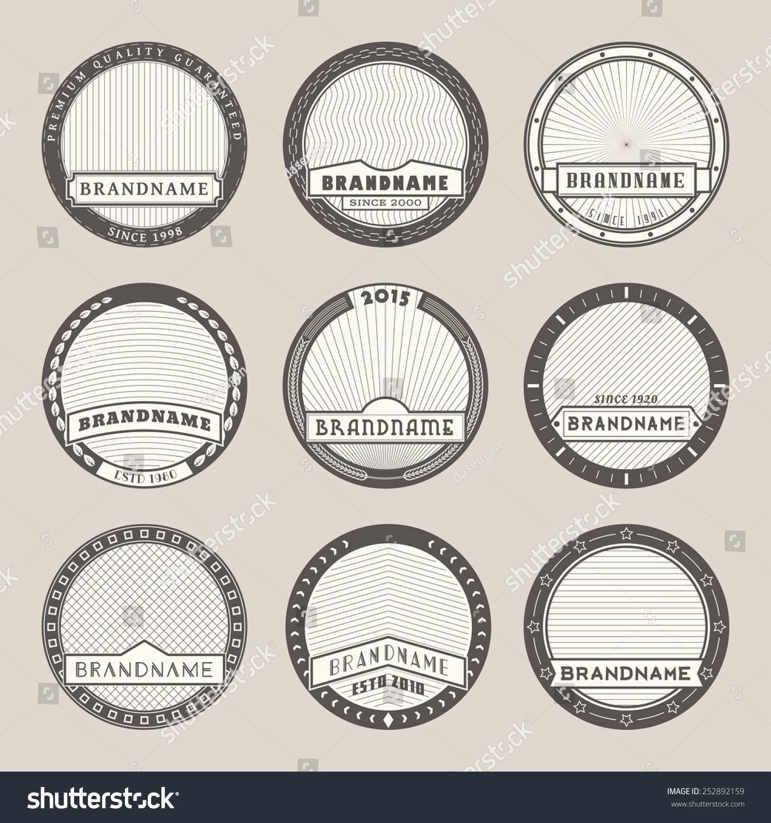 Round Label Templates