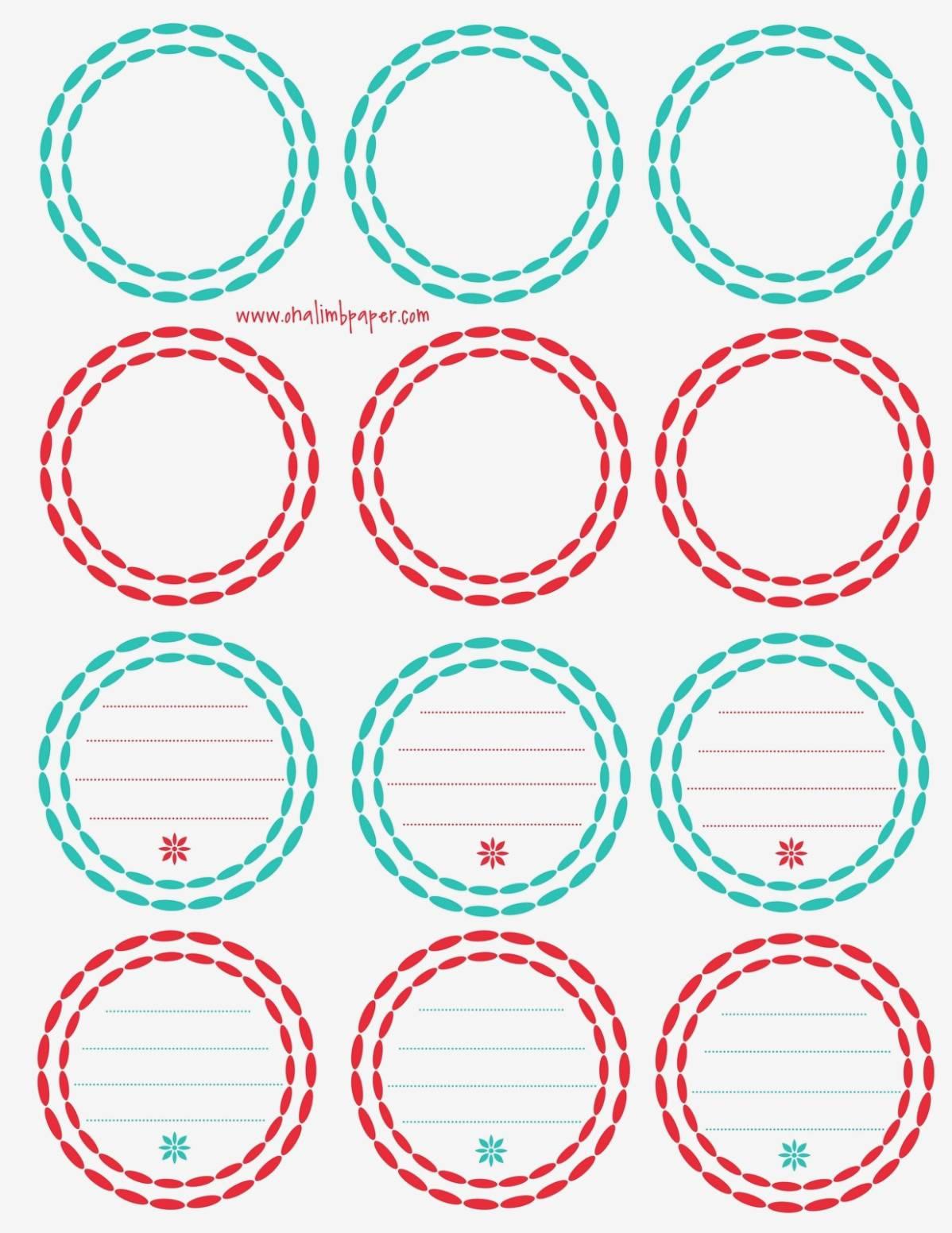 Round Sticker Labels Template