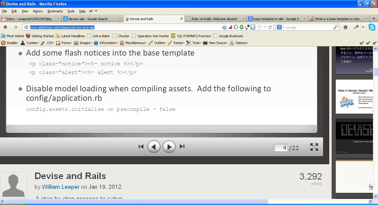 Ruby On Rails Templates Stackoverflow