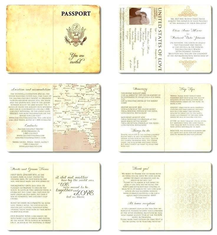 Safari Passport Invitations Template
