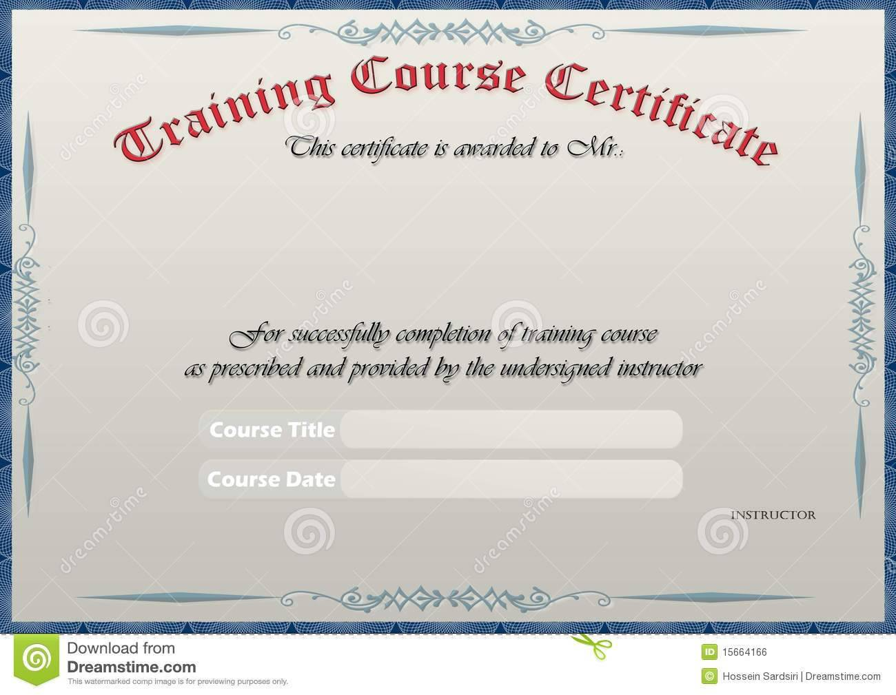 Fire Safety Training Certificate Template - Templates #73650