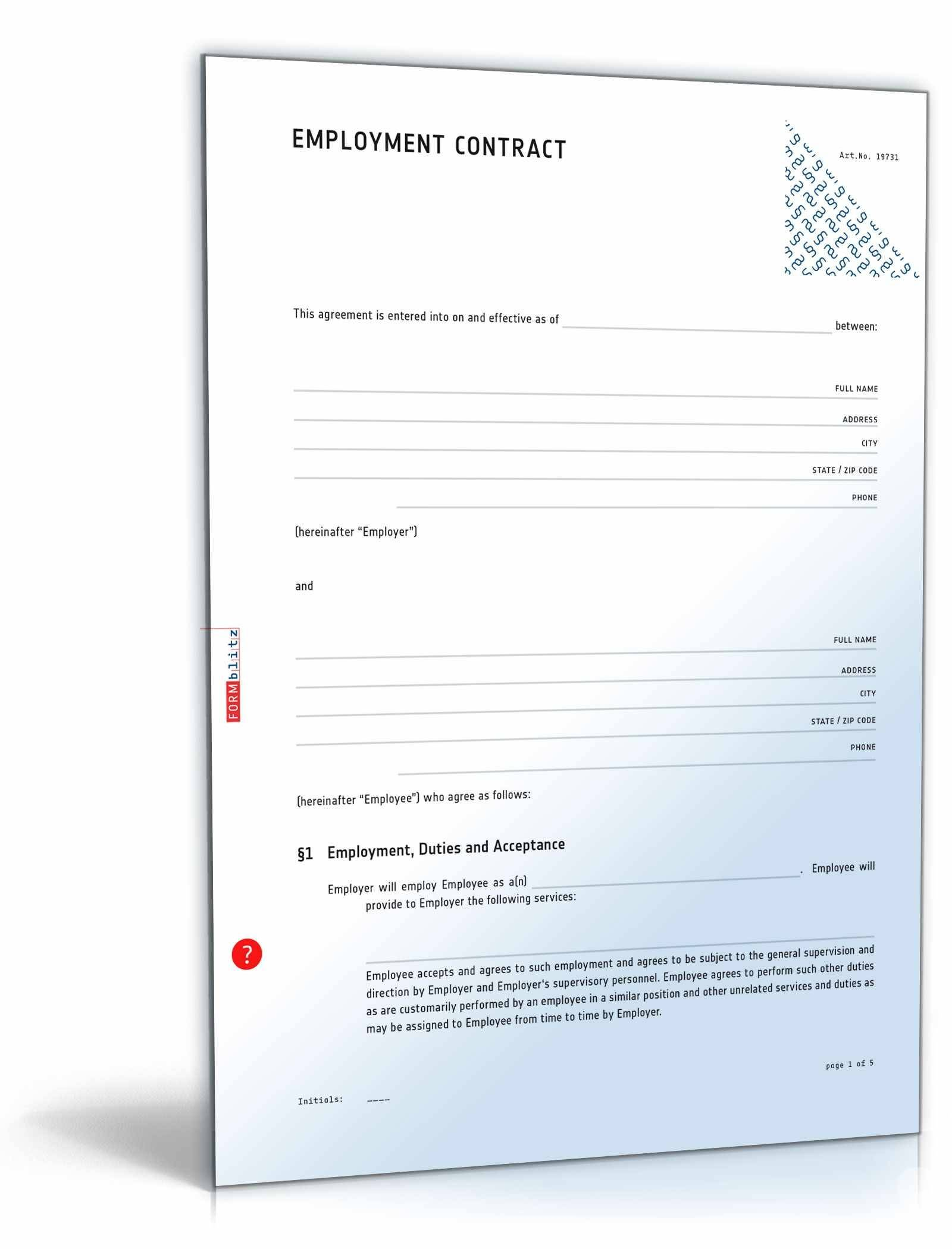 Salary Contract Template
