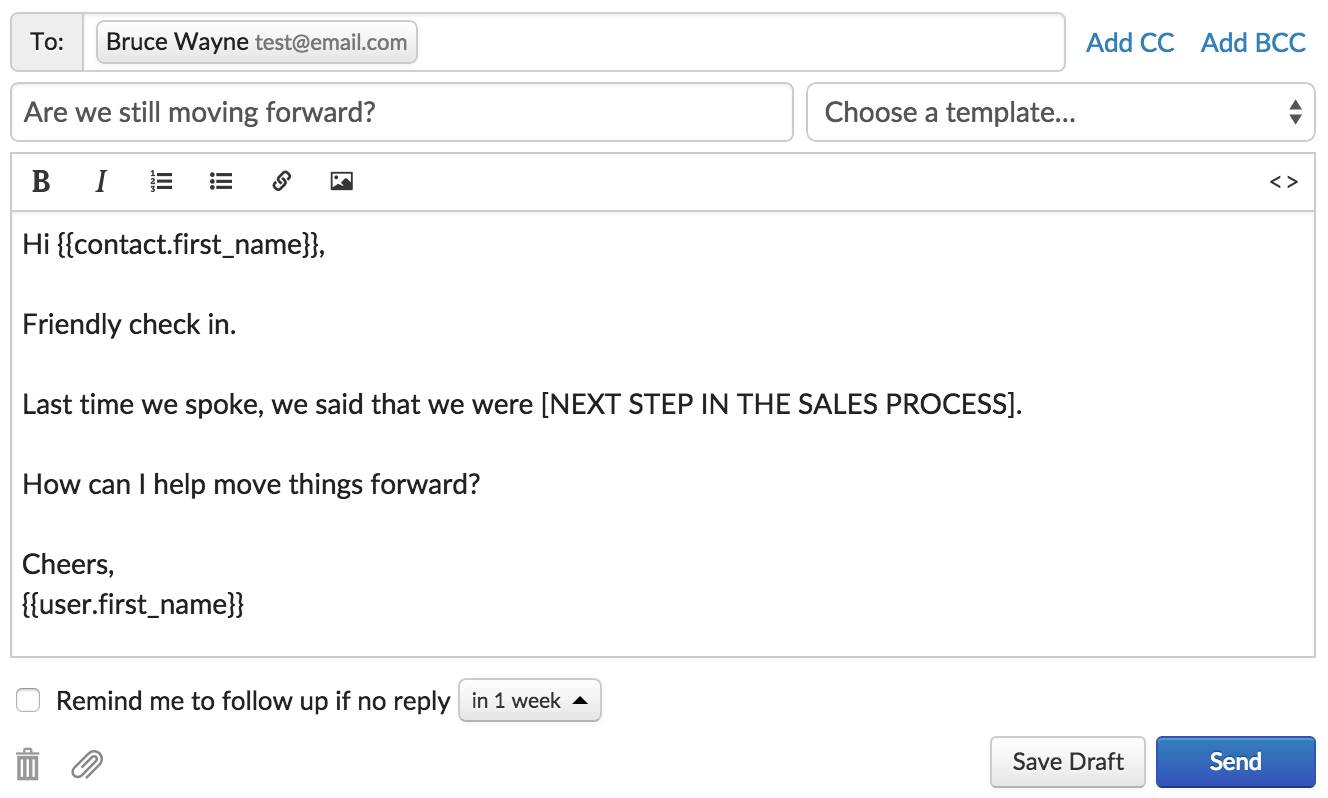 Sales Follow Up Emails Templates