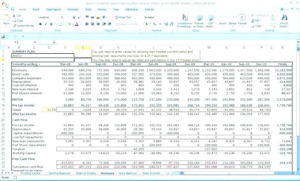Sales Projection Template Xls